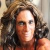 Gail Auerbach female bodybuilder muscle posing
