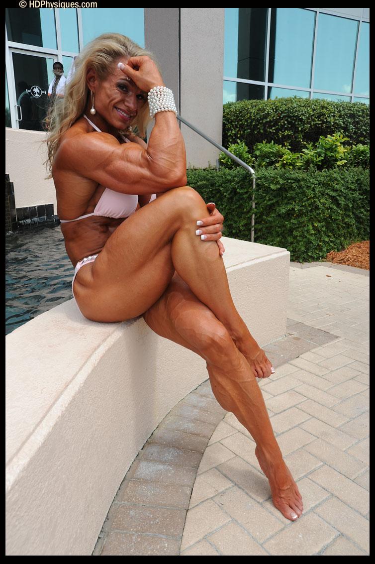 Female bodybuilder marina lopez hot amp hard female muscle 6
