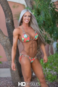 Join HDPhysiques.com for new model Jamie Collins - rare bikini muscle at HDP! - look at those abs!