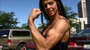 At the FemaleMuscleStore, HDPhysiques.tv, see a new clip of the gorgeous Mona Muresan in the KrivsStudio Clips Store