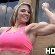 Check out those gorgeous biceps on stunning new model Tiffany Nelson - JOIN HDPhysiques now!