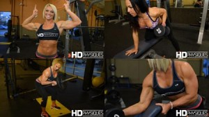 HOT women of muscle! Get Heather Drake and Christine Moyer NOW at HDPhysiques.tv!