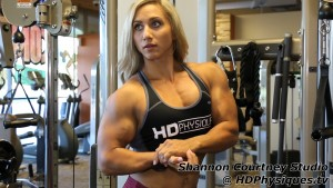 HOT MUSCLE! New Shannon Courtney videos now available at HDPhysiques.tv - get them today!