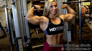 Look at those massive arms!  See the Shannon Courtney Clips store for 3 brand new videos of posing, flexing, and blasting those amazing arms!