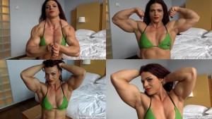 Oana is FREAKING HUGE! Get this new clip today at the FemaleCityFlex Studio at HDPhysiques.tv