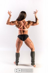 New videos today on the Emily Bethany page shows off her stunning back, biceps, and more!