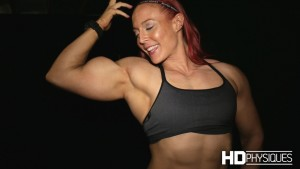 Katie Lee's BICEPS just keep getting bigger and bigger - get her latest videos today at HDPhysiques.tv!