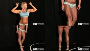 HUGE powerful Quads & Calves - amazing offseason muscle posing. Get this hot new Clip in the Christine Moyer Studio at HDPhysiques.tv