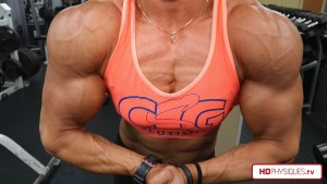 Katie Lee looking RIPPED and MASSIVE!  5 recently added new videos to the Katie Lee Peak Power Studio at HDPhysiques.tv!