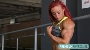 Also visit Katie's Clips Studio at HDPhysiques.tv for more than 5 additional supplemental minutes of footage of her contest shape massive peaks!