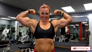 "Katie's arms are OVER 17"" in the latest video at HDPhysiques.tv - Get this video today in the Annie Gunshow Studio!"