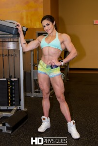 Quads - striated and ripped beyond belief! - JOIN HDPhysiques today for 20-year-old Figure Olympian Natalia Coelho!