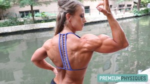 Alli Schmohl and her BIG 16's - New RIPPED CONTEST SHAPE shoot - now available at PremiumPhysiques.com - JOIN NOW with our combo membership!
