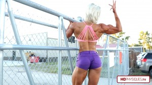 Look at that absolutely stunningly perfect physique! - Get it today at The FemaleMuscleStore, by HDPhysiques.tv!