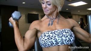 Krivs Studio presents the tremendously gorgeous Ali Olsen flexing her sexy guns!