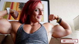 LOOK at those massive guns - Only Katie Lee folks!  Buy from her Clips Store today!