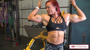 Katie Lee looking MASSIVE and RIPPED - All new videos available now in the Katie Lee Clips Studio at HDPhysiques.tv!