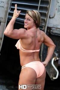 Nice muscle on newcomer to the physique world, Leigha Coplan - JOIN NOW!