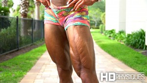 Simply phenomenal ripped muscle - HUGE FEATHERED QUADS - JOIN HDPhysiques today for new model Natalia Coelho!