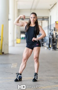Look at the amazing muscle on IFBB Fitness Pro Ariel Khadr - JOIN HDPhysiques today!