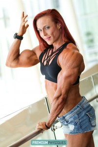 Brand new Katie Lee now available at PremiumPhysiques - CONTEST SHAPE muscle from Omaha!