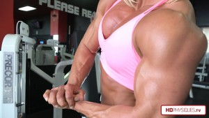 SUPER IMPRESSIVE - the big, thick, meaty muscle of Brooke Walker - now available in her Clips Studio at HDPhysiques.TV - get it today and show your support!