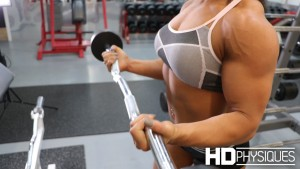 Look at those MASSIVE arms are Jess Chapa - JOIN HDPhysiques now for all of her amazing clips!