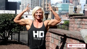 Brooke Walker - Power in Pittsburgh - Get it today and see rock hard female muscle from America's Marilyn Monroe of Muscle!