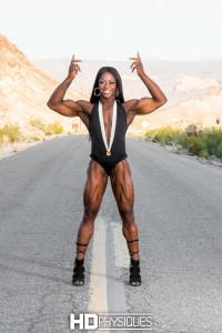 Physique perfection!  Join now for the HOT model page featuring Olympian Sheronica Henton!