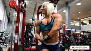 Holy crap Brooke is getting HUGE!  Look at that powerful chest thickness!  Click here for up close pic!
