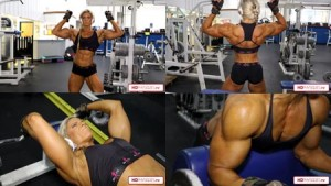 Intensity is the name of the game as POWERFUL Autumn works those gorgeous muscles in the gym!