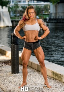 Jordan Hartsell - muscular female perfection.  Join HDP now for the first 4 vids and 3 galleries on her amazing model page!