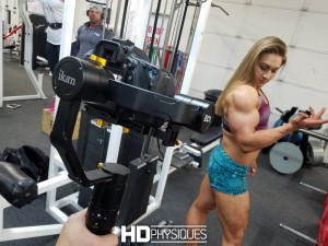 Look at the INSANE size of her biceps!  Nuggs' has 2 new videos and 1 new gallery on her model page - Join HDPhysiques today!