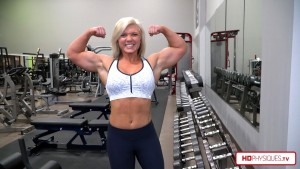 Getting BIG!   Carli is putting on muscle for her 2018 Pro Debut.  Get her new videos today in the FemaleMuscleStore, at HDPhysiques.TV