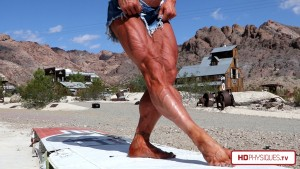 Outstanding female muscle!  Look at Jill Diorio's crazy ripped legs. Simply the best on earth - get her new videos today at the Female Muscle Store by HDPhysiques.TV!
