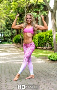Outstanding biceps on new model, Kristine Duba 2.  Join HDPhysiques now for awesome pics & vids!