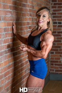 Supremely ripped and ultimate vascularity - join HDPhysiques now for the super impressive Michaela Aycock!
