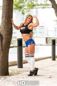 Gorgeous female muscle! - JOIN HDPhysiques now for stunning new model, Farrah Faulkner - physique comptitor!