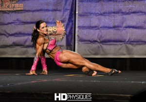 Fiona Harris with the shredded striated glutes during her championship fitness routine.  Join now for amazing galleries from the 2016 Chicago Pro Show!