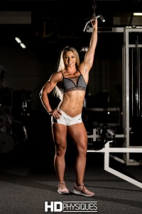 This beauty OWNS the gym when she enters.  The ultimate in female muscle power - Join HDPhysiques now for Kaitie Hart!