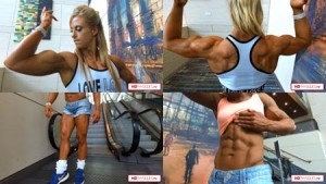 Ripped contest shape rock solid and HUGE PEAKS - Alli and her big 16s' - see the new video today!