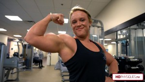 The PEAK FREAK of FIZEEK!  Get the new Hailey Delf massive biceps video today at HDPhysiques.TV!