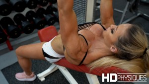 ALL NEW Kaitie Hart chest pounding muscle action - JOIN HDPhysiques now!