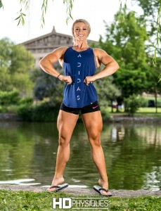 Even though she's known for her world class biceps, she's got the legs too!  Look at those massive mashers!  Join HDPhysiques today!