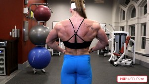 MASSIVE Back, powerful glutes, and huge arms - get this amazing new BEEFNUGGETTE video today over at HDPhysiques.TV, the Female Muscle Store!