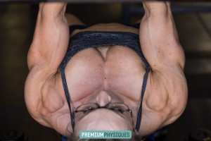 INSANE PEC POWER!  Join HDP and PP with our combo membership and see Paige Sandgren's powerful chest!