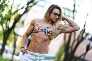 """Over at PremiumPhysiques, our sister site featuring our sponsored athletes, see a brand new page of Paige """"Beefnuggette"""" Sandgren - JOIN both sites now by """"opting in"""" for PP when you join HDPhysiques!"""